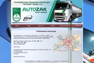Przedsiębiorstwo Transportowo Spedycyjne Autozak Sp. z o.o. - Firma Inżynieryjna Kędzierzyn-Koźle