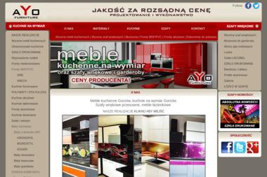 Ayo Furniture. Studio mebli na wymiar, meble kuchenne, szafy wnękowe - Stolarstwo Gorzów Wielkopolski