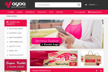 Agencja Reklamowa Ayoa. Upominki reklamowe - Projektowanie Stron WWW Kętrzyn