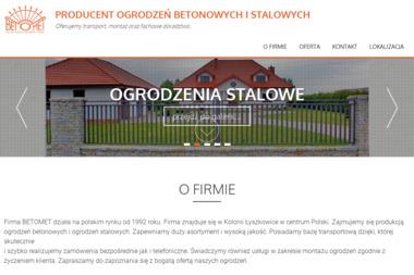 """PPHU """"BETOMET"""" - Hurtownia Budowlana Łyszkowice"""
