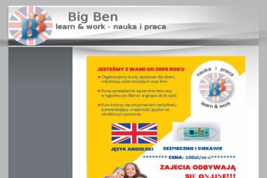 Big Ben Learn & Work Nauka i Praca - Nauczyciele angielskiego Zielona Góra