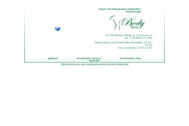 Body Spa Salon Modelowania Sylwetki i Kosmetyki. Masaż podciśnieniowy, opalanie natryskowe - Dietetyk Bielsko-Biała
