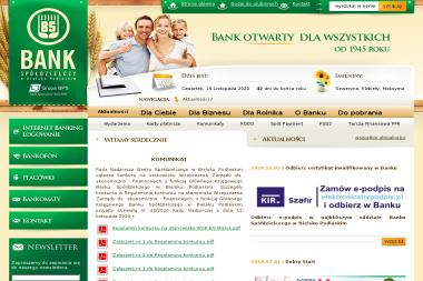 Bank Spółdzielczy w Bielsku Podlaskim Oddział w Hajnówce (SuperMarket PSS Społem) - Kredyt Hajnówka