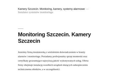 Cerber Biuro Ochrony Osób i Mienia Marek Wardęga - Agencja ochrony Szczecin