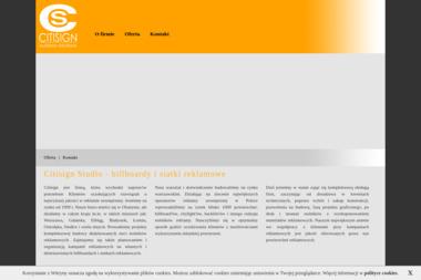 Citisign Studio Reklamy Zewnętrznej Grzegorz Sadłowski - Agencja marketingowa Olsztyn