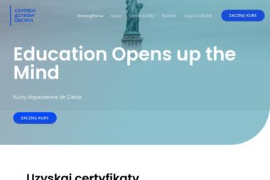 Centrum Języków Obcych Radomski Leszek - Nauczyciele angielskiego Łańcuchów