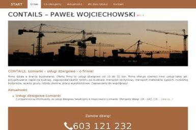 Contails - Transport. Usługi dźwigowe - Krótkoterminowy wynajem maszyn budowlanych Warszawa