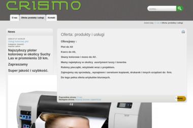 Crismo Firma Biurowo-Usługowa. Pieczątki, wizytówki, regeneracja tonerów - Drukowanie Murowana Goślina