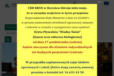 CRR Horyniec - Sanatoria, uzdrowiska Horyniec-Zdrój