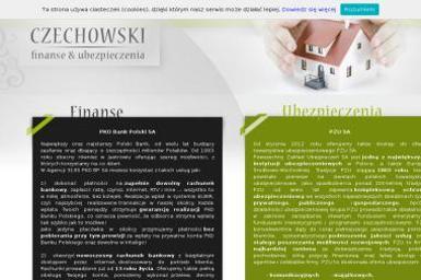 Agencja Czechowski Finanse & Ubezpieczenia. Inwestycje, fundusz - Ubezpieczenia Jastrowie