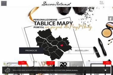 Decorisland.pl. Dekoracje wnętrz, poduszki ozdobne, wyposażenie domu - Drukarnia Płock