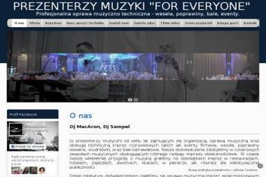 Prezenterzy muzyki - For Everyone - Zespó艂 muzyczny Siedlce
