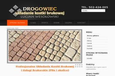 Usługi Brukarskie Drogowiec Lucjan Wesołowski. Brukarstwo, układanie kostki brukowej, kostka brukowa - Układanie kostki granitowej Piła