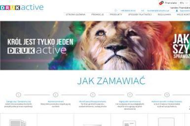 Druk Active. Drukarnia, druk, drukarnia online - Ulotki Olsztyn