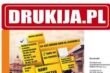 M&M Print Gromek M. Siejak M. Drukarnia wielkoformatowa - Drukarnia Kórnik