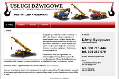 Usługi Dźwigowe Ryszard Lewandowski - Maszyny budowlane Bydgoszcz