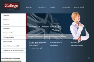 Europejskie Centrum Edukacyjne College - Lekcje Angielskiego Mława