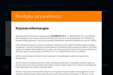 Ecovario Sp. z o.o. - Skład budowlany Miastko