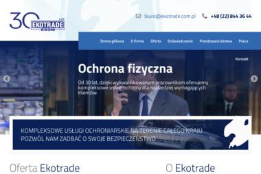 Specjalistyczna Uzbrojona Formacja Ochronna Ekotrade Sp. z o.o. - Agencja ochrony Bydgoszcz