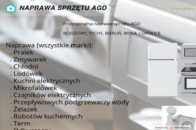 Serwis AGD Bogusław Noga - Naprawa drobnego sprzętu AGD Bojszowy