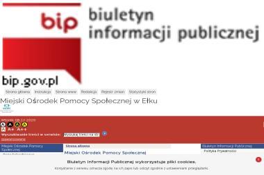 Miejski Ośrodek Pomocy Społecznej w Ełku - Pomoc domowa Ełk