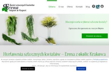 ERENA Sprzedaż hurtowa sztucznych kwiatów - Tartak Zabierzów