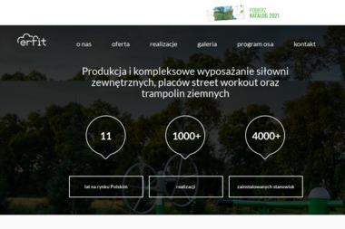 Erfit. Si艂ownie zewn臋trzne, outdoor fitness - Si艂ownia Gda艅sk