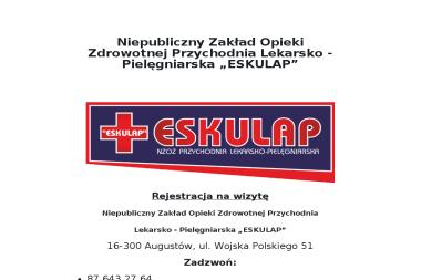 Lekarz Moskowicz Zdzisław - Niepubliczny Zakład Opieki Zdrowotnej Przychodnia Lekarsko-Pielęgniarska - Psycholog Augustów