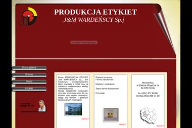 Produkcja Etykiet J&M Wardeńscy Sp.J. - Drukarnie etykiet Mościenica