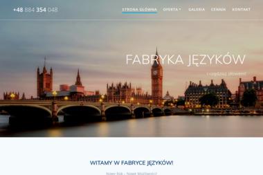 Fabryka Języków Dawid Gołębiowski - Szkoła językowa Tyniec Mały