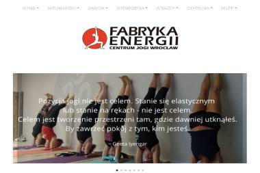 Fabryka Energii-Centrum Jogi. Joga, rekreacja - Joga Wrocław