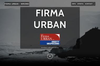 Firma Urban. Marcin Urban - Ubezpieczenie samochodu Wronki