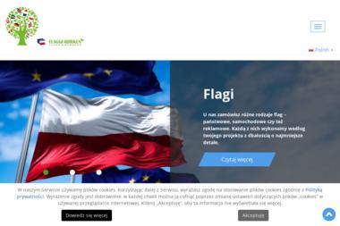 Flagi reklamowe Flaggfabriken. Producent flag i masztów flagowych - Agencja Reklamowa Rurzyca