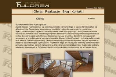 Fuldrew. Meble drewniane, schody - Wyposażenie wnętrz Rudnik nad Sanem