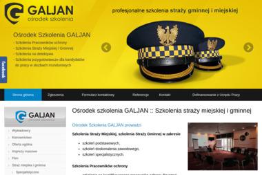 Galjan System Ochrona. Ośrodek Szkolenia Galjan - Usługi Szkoleniowe Legionowo