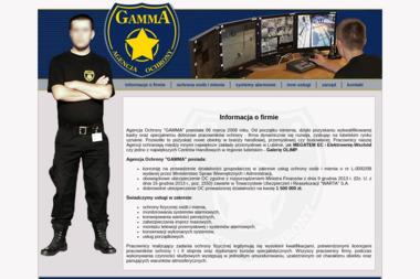 """Agencja Ochrony """"GAMMA"""" - Agencja Ochrony Lublin"""