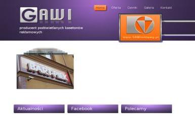 Ga Wi - Producent reklam świetlnych - Usługi Reklamowe Gomunice