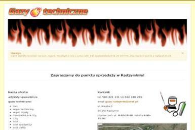 Gazy techniczne - Wózki widłowe Radzymin