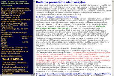 Usg Genetyczne, Badania Prenatalne Dr N. Med. Lech Dudarewicz - Ginekolog Łódź