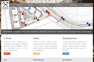Pracownia Projektów i Realizacji Inwestycji Geologicznych, Ekologicznych i Górniczych Geoleh. Leon - Geolog Gdynia