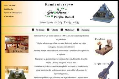 FHU Get-Stone Daniel Poręba. Kamieniarstwo, usługi kamieniarskie - Nagrobki Mystków