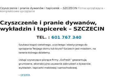 Fhu GoFresh. Pranie dywanów, wykładzin - Tapicer Szczecin