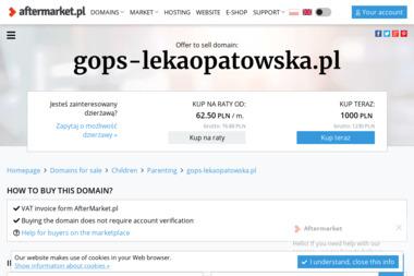 Gminny Ośrodek Pomocy Społecznej - Pomoc domowa Łęka Opatowska
