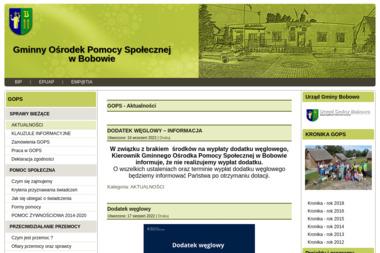 Gminny Ośrodek Pomocy Społecznej w Bobowie - Pomoc domowa Bobowo