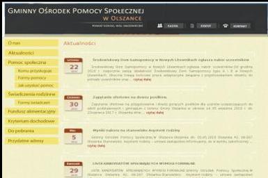 Gminny Ośrodek Pomocy Społecznej w Olszance - Pomoc domowa Olszanka