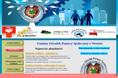 Gminny Ośrodek Pomocy Społecznej w Waśniowie - Pomoc domowa Waśniów