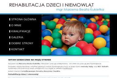 Rehabilitacja Dzieci i Niemowl膮t Marzena Beata Grabowska. Rehabilitacja, rehabilitacja dzieci, - Rehabilitant Bia艂ystok