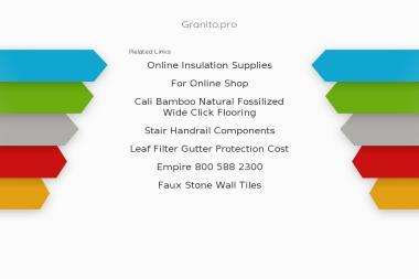 Granito. Producent elementów z kamienia - Posadzki Żywiec