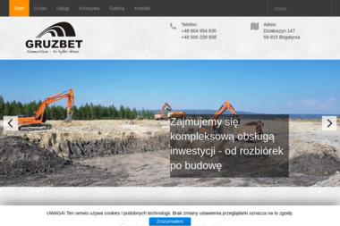 Gruzbet Sp. z o.o. - Roboty ziemne Porajów