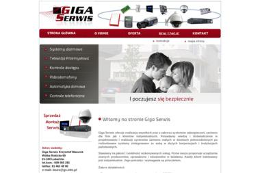 Giga Serwis Krzysztof Mazurek. Systemy alarmowe, telewizja przemysłowa - Inteligentny dom Lubartów